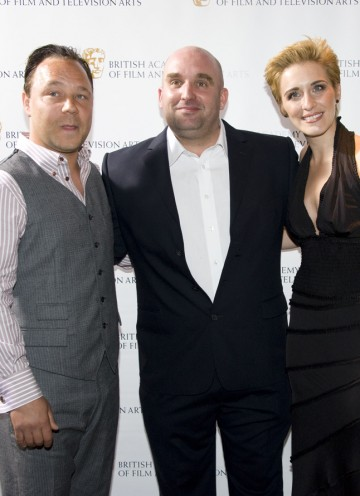 This Is England '86 writer/director Shane Meadows with Stephen Graham (aka Combo) and Vicky McCLure (aka Lol). (Pic: BAFTA/Chris Sharp)