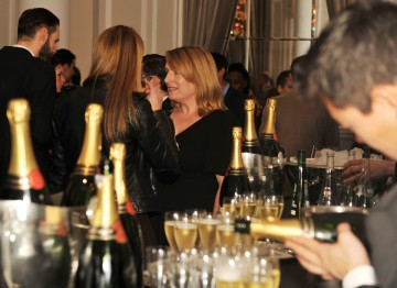 Actress Claire Rushbrook at the champagne Taittinger bar