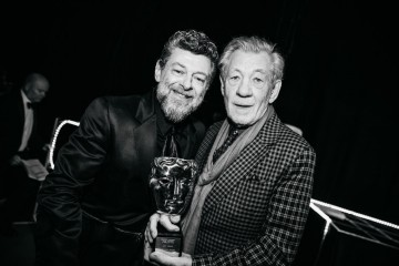 Andy Serkis and Ian McKellen backstage