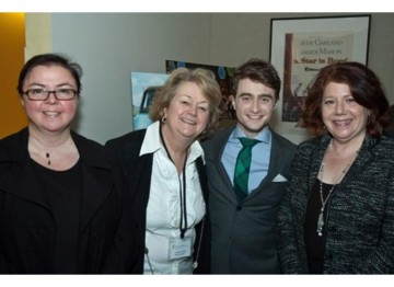 BAFTA New York COO Lisa Harrison, BAFTA New York CEO Christina Thomas, Daniel Radcliffe and Harlene Freezer