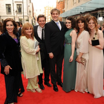 Some of the Downton Abbey cast on the red carpet at the British Academy Television Awards in 2011.