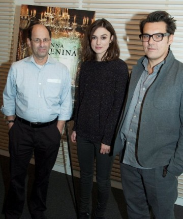 Moderator Brian Rose, Keira Knightley and Director Joe Wright