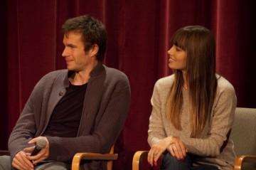 James D'Arcy and Jessica Biel