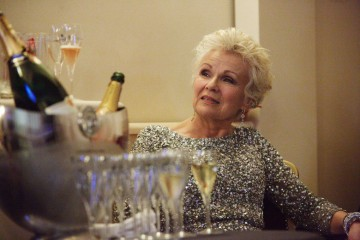 Julie Walters backstage in the J. Kings Smoking Room at London's Royal Opera House before presenting the BAFTA for Outstanding British Contribution to Cinema.