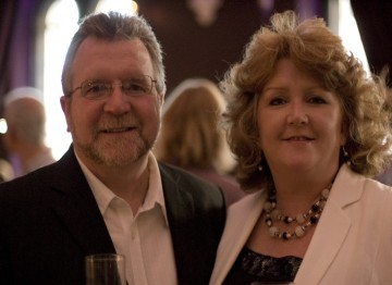 BAFTA member Jerry Brannigan and partner