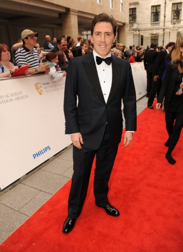 The Rob Brydon Show host is nominated for Entertainment Performance, and will also present the Drama Series award with The Trip co-star Steve Coogan. (Pic: BAFTA/Richard Kendal)