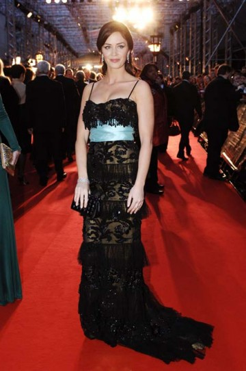 The Supporting Actress nominee (for The Devil Wears Prada) wore an elegant black Elie Saab evening gown. (pic: BAFTA/Richard Kendal)