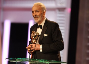 """This is a truly great honour. Two things make it so: The fact that this was voted to me by my peers; and secondly, that I received it from one of the great directors of our age."" Sir Christopher Lee (Pic: BAFTA/ Stephen Butler)"