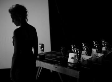 Sharon Stone backstage before presenting the BAFTA for Outstanding British Film (Greg Williams / Art+Commerce).