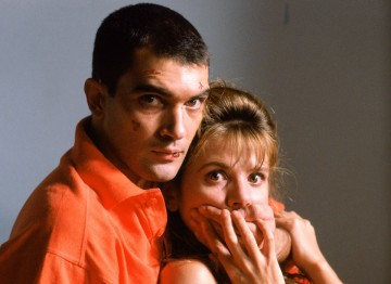 Antonio Banderas and Victoria Abril in Tie Me Up! Tie Me Down! (1990). ©Mimmo Cattarinich