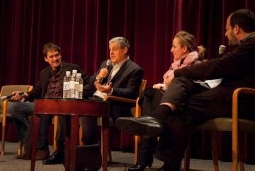 Producers Eric Bevan, Cameron Macintosh, Debra Hayward and Moderator Jack Lechner.