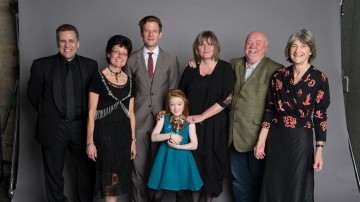 The team behind Katie Morag, winner of the Drama category at the British Academy Children's Awards in 2014, presented by James Norton