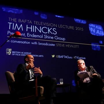 Tim Hincks in conversation with broadcaster Steve Hewlett