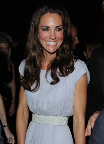 Kate Middleton wears a lilac Alexander McQueen gown