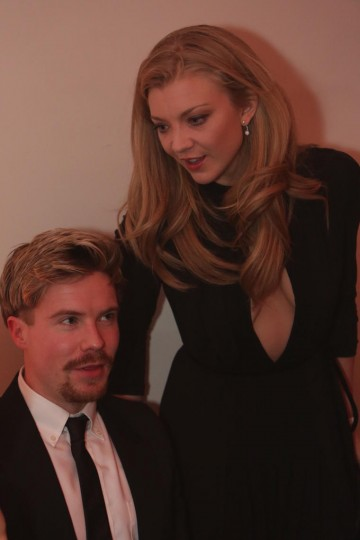 Joe Dempsie and Natalie Dormer at the BAFTA Film Gala dinner