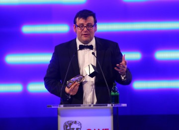 Kevin Flynn of Electronic Arts picks up a second BAFTA for Battlefield 3.