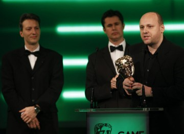 Heavy Rain takes another award, this time for its dramatic thriller story: modelled on film noir, it centres around the mystery of the Origami Killer. (Pic: BAFTA/Brian Ritchie)