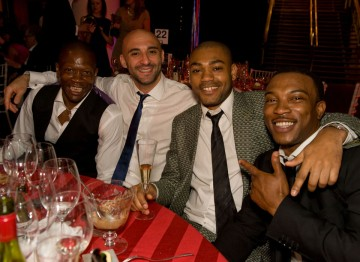 Ashley Waters and the rest of the Top Boy table at the After Party.