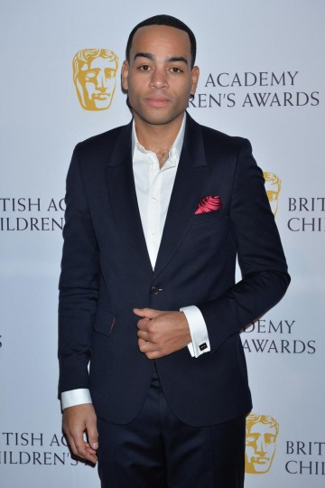 Ceremony host Doc Brown looking dapper on the red carpet of the British Academy Children's Awards in 2014