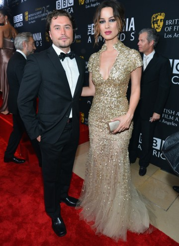 Skyfall star Berenice Marlohe poses with actor Kevin Ryan.