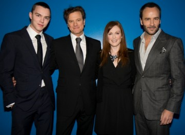 Nicholas Hoult, Colin Firth, Julianne Moore and Director Tom Ford