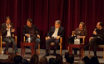 Director Tom Hooper, Producers Eric Bevan, Cameron Macintosh, Debra Hayward and moderator Jack Lechner