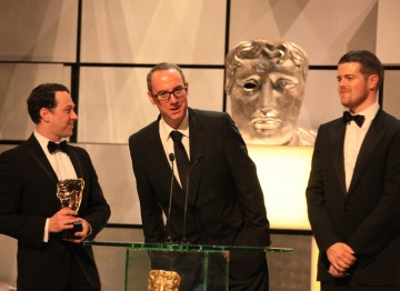 The winning Psychoville team: Reece Shearsmith, Jon Aird and Justin Davies.