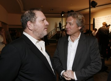 Harvey Weinstein and BAFTA Los Angeles Chairman Peter Morris