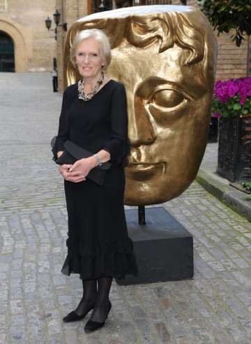 The TV chef arrives at the Television Craft Awards to present the Editing Factual BAFTA.