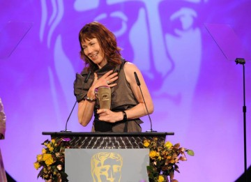 Kristina Hetherington proudly accepted her BAFTA mask in the Editing Fiction category for her work on the biopic, Mo.