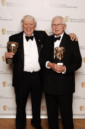 Sitcom supremos David Croft and Jimmy Perry received the Special Award for their oustanding catalogue of work in Television (pic: BAFTA / Richard Kendal).