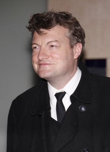 Columnist and Newswipe presenter Charlie Brooker arrives to hand out the coveted Best Game BAFTA.