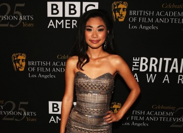 Singer Jessica Sanchez poses backstage at the 2012 Britannia Awards show.