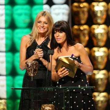 Tess Daly & Claudia Winkleman present the award for Soap and Continuing Drama