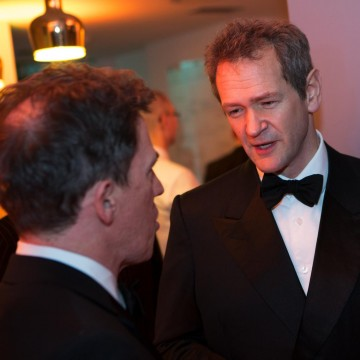 Rob Brydon and Alexander Armstrong chat at the Gala