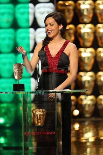 Georgina Campbell accepts the award for Leading Actress