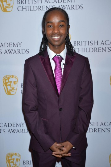 Performer nominee Akai Osei, of 4 O'Clock Club, at the British Academy Children's Awards in 2014