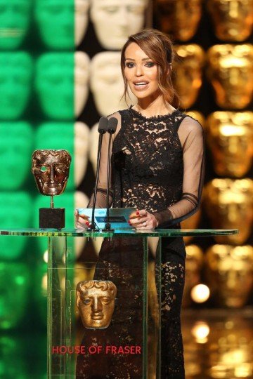Katie Piper presents the award for Current Affairs