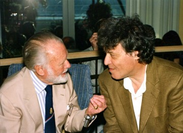 Sir John Mills and Sir Tom Stoppard