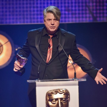 Mark Little presents the BAFTA for Performer at the British Academy Children's Awards in 2015