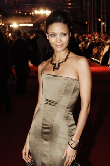 Thandie Newton, who won the Supporting Actress BAFTA in 2006 for her role in Crash, strikes a pose (BAFTA / Richard Kendal).