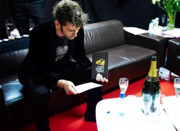 David Tennant backstage at the 2009 BAFTA Television Awards.