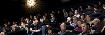 The audience at Ffresh Student Moving Image Festival of Wales. Pic: Jon Pountney.
