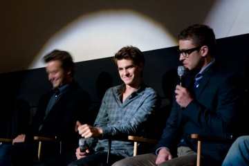 Armie Hammer, Andrew Garfield and Justin Timberlake