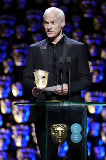 Martin McDonagh accepting his Original Screenplay BAFTA