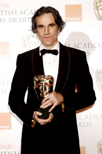 The BAFTA for Actor went to Daniel Day-Lewis for his portrayal of an amoral oil tycoon in There Will Be Blood (pic: BAFTA / Richard Kendal)