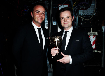 And and Dec backstage at the 2010 BAFTA Television Awards.