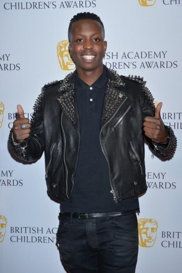 SBTV founder Jamal Edwards gives a resounding thumbs up to the British Academy Children's Awards in 2014