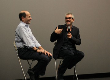 Moderator Brian Rose and Director Alfonso Cuarón