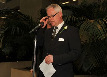 Coutts' Harry Keogh at the Television Nominee's Party 2012